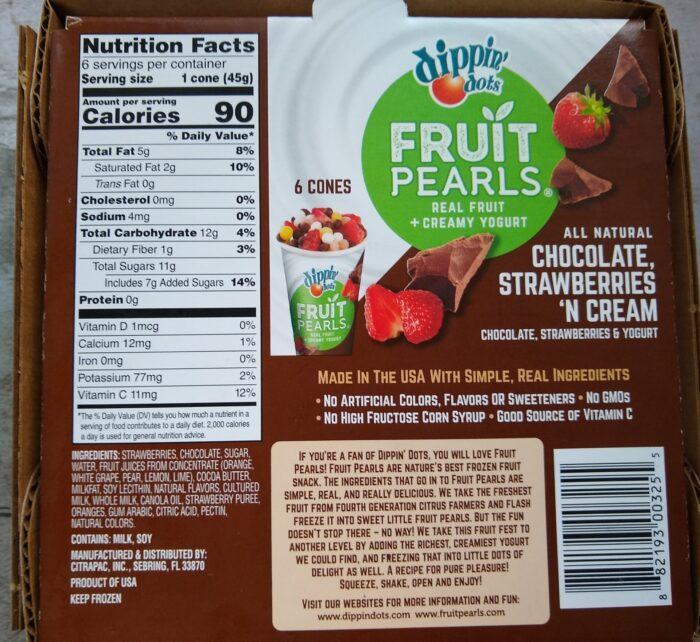 Dippin' Dots Fruit Pearls Chocolate, Strawberries 'N Cream