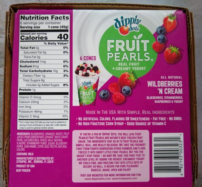Dippin' Dots Fruit Pearls Wildberries 'N Cream