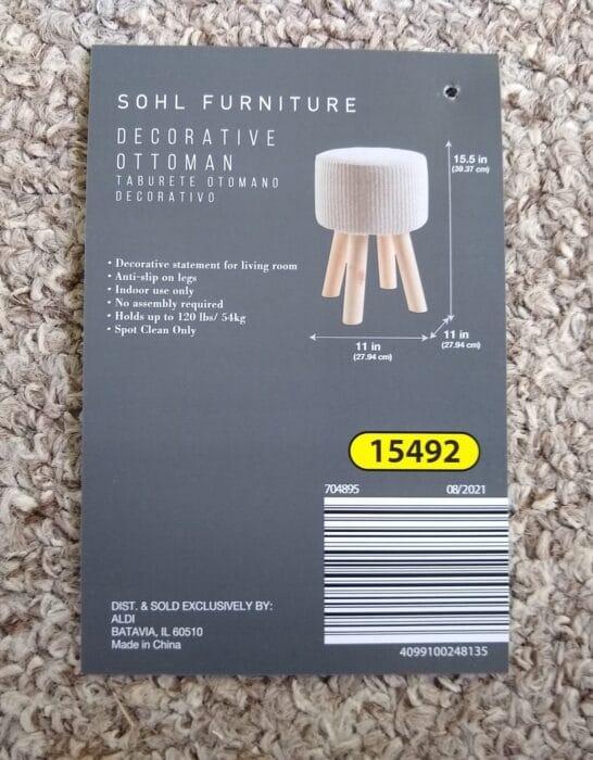 SOHL Furniture Decorative Ottoman