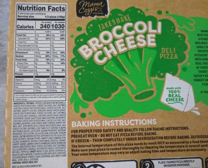 Mama Cozzi's Take & Bake Broccoli Cheese Pizza
