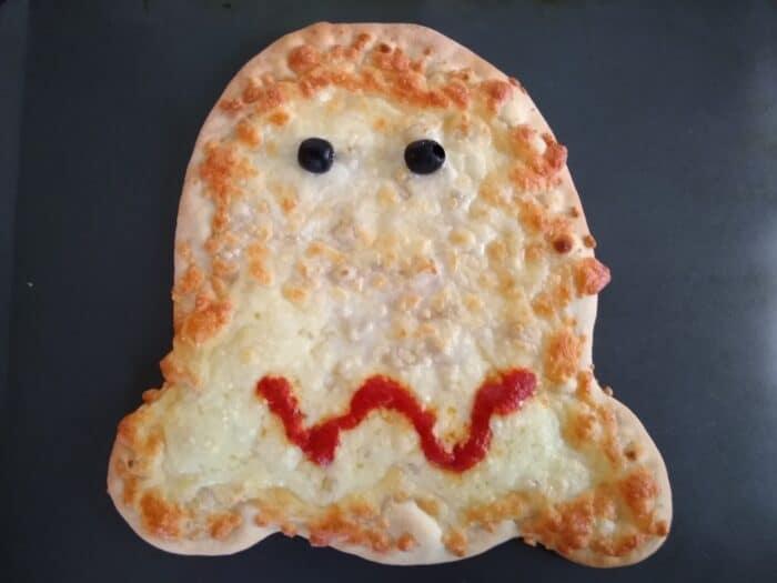 Mama Cozi's Halloween Ghost Shaped Pizza